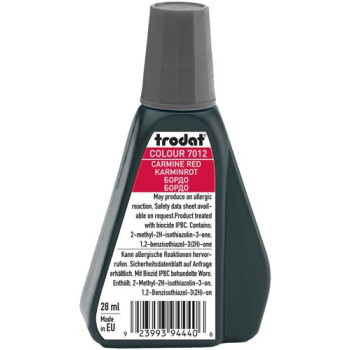Trodat 7012 Μελάνι Σφραγίδας Carmine Red (Κόκκινο Βαθύ) σε μπουκαλάκι 28ml για όλους τους τύπους ταμπόν Trodat.