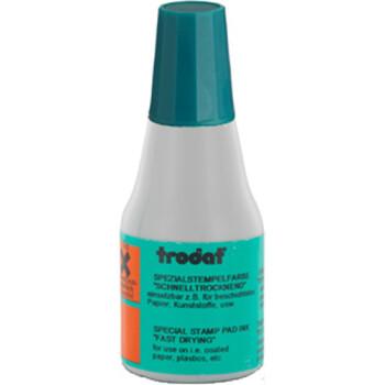Μελάνι Ανεξίτηλο Σφραγίδων 7021 TRODAT 25ml Πράσινο, για επιφάνειες που το απλό μελάνι δεν στεγνώνει.
