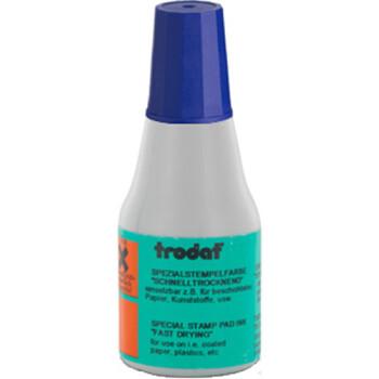 Μελάνι Ανεξίτηλο Σφραγίδων 7021 TRODAT 25ml Μωβ για επιφάνειες που το απλό μελάνι δεν στεγνώνει.