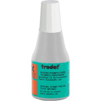 Μελάνι Ανεξίτηλο Σφραγίδων 7021 TRODAT 25ml Λευκό για επιφάνειες που το απλό μελάνι δεν στεγνώνει.