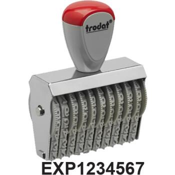 Σφραγίδα Trodat EXP NUMBER Αρίθμησης γραμμάτων EXP & 7 αριθμών με ύψος ψηφίου 0.3cm και μήκος σφραγίδας 3.7cm
