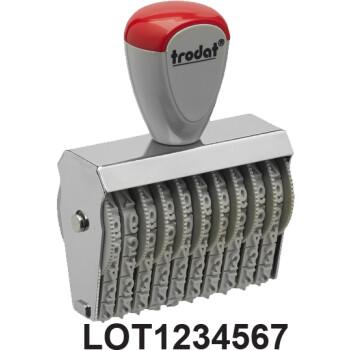 Σφραγίδα Trodat LOT NUMBER Αρίθμησης γραμμάτων LOT & 7 αριθμών με ύψος ψηφίου 0.5cm και μήκος σφραγίδας 4.8cm