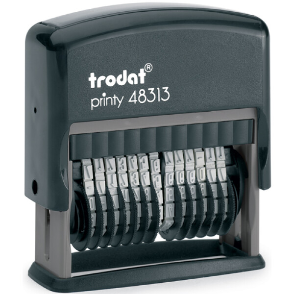 Σφραγίδα Trodat Printy 48313 Αυτομελανώμενη Μαύρη 13 αριθμών με ύψος ψηφίου 3.8mm και μήκος σφραγίσματος 4.6cm