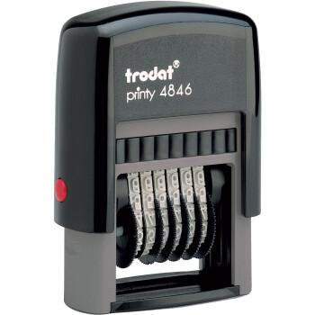 Σφραγίδα Trodat Printy 4846 Αυτομελανώμενη Μαύρη 6 αριθμών με ύψος ψηφίου 4mm και μήκος σφραγίσματος 3.0cm