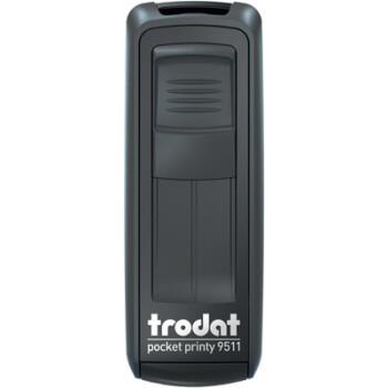 Σφραγίδα Trodat Pocket Printy 9511 Τσέπης Μαύρη για κατασκευή σφραγίδας έως 3ων γραμμών κειμένου.