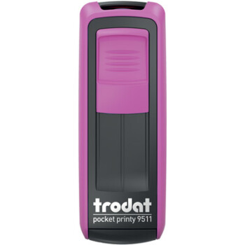 Σφραγίδα Trodat Pocket Printy 9511 Τσέπης Φούξια για κατασκευή σφραγίδας έως 3ων γραμμών κειμένου.
