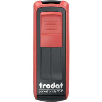 Σφραγίδα Trodat Pocket Printy 9511 Τσέπης Κόκκινη για κατασκευή σφραγίδας έως 3ων γραμμών κειμένου.