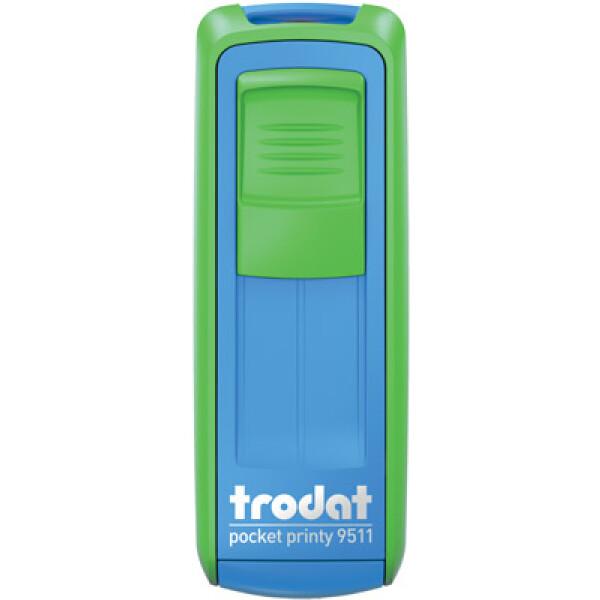 Σφραγίδα Trodat Pocket Printy 9511 Τσέπης Πράσινη - Μπλε για κατασκευή σφραγίδας έως 3ων γραμμών κειμένου.