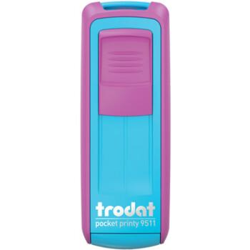 Σφραγίδα Trodat Pocket Printy 9511 Τσέπης Φούξια - Τυρκουάζ για κατασκευή σφραγίδας έως 3ων γραμμών κειμένου.