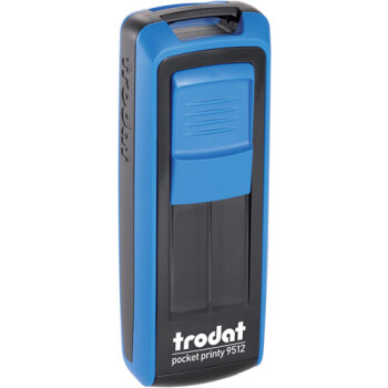 Σφραγίδα Trodat Pocket Printy 9512 Τσέπης Μπλέ με Μαύρο για κατασκευή σφραγίδας έως 5 γραμμών κειμένου.