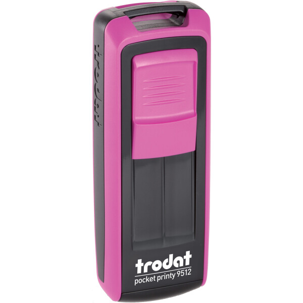 Σφραγίδα Trodat Pocket Printy 9512 Τσέπης Φούξια για κατασκευή σφραγίδας έως 5 γραμμών κειμένου.