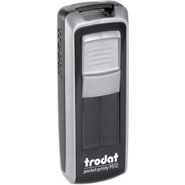 Σφραγίδα Trodat Pocket Printy 9512 Τσέπης Ασημί για κατασκευή σφραγίδας έως 5 γραμμών κειμένου.