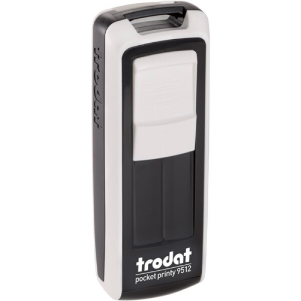 Σφραγίδα Trodat Pocket Printy 9512 Τσέπης Λευκή για κατασκευή σφραγίδας έως 5 γραμμών κειμένου.