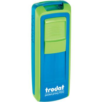 Σφραγίδα Trodat Pocket Printy 9512 Τσέπης Πράσινη με Μπλέ για κατασκευή σφραγίδας έως 5 γραμμών κειμένου.