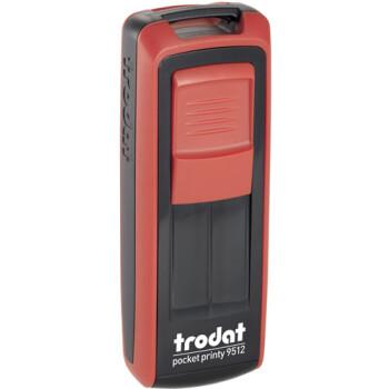 Σφραγίδα Trodat Pocket Printy 9512 Τσέπης Κόκκινη για κατασκευή σφραγίδας έως 5 γραμμών κειμένου.
