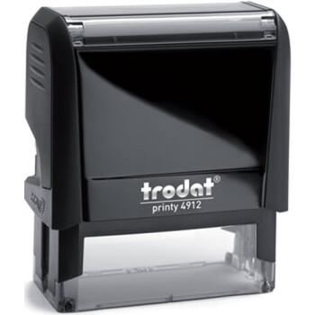 Σφραγίδα Trodat Printy 4912 Eco Αυτομελανώμενη Μαύρη για κατασκευή σφραγίδας έως 5 γραμμών κειμένου.