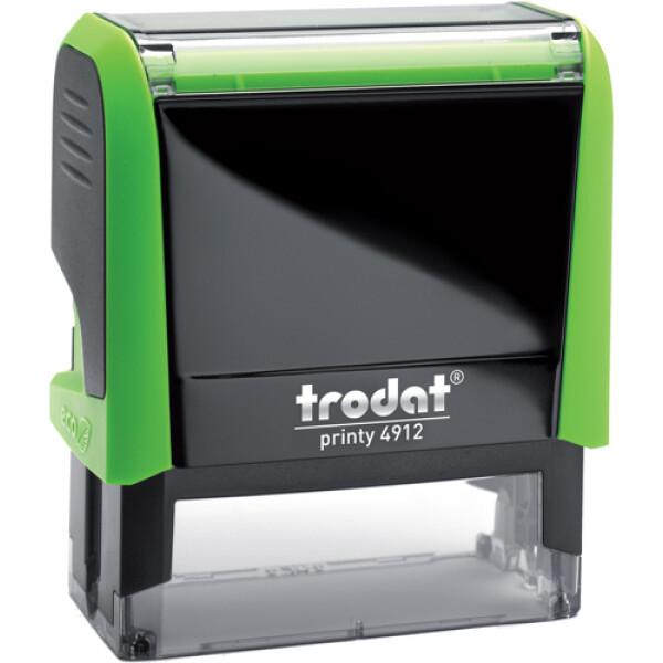 Σφραγίδα Trodat Printy 4912 Eco Αυτομελανώμενη Πράσινη για κατασκευή σφραγίδας έως 5 γραμμών κειμένου.