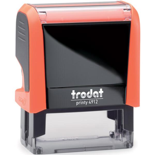 Σφραγίδα Trodat Printy 4912 Eco Αυτομελανώμενη Neon Πορτοκαλί για κατασκευή σφραγίδας έως 5 γραμμών κειμένου.