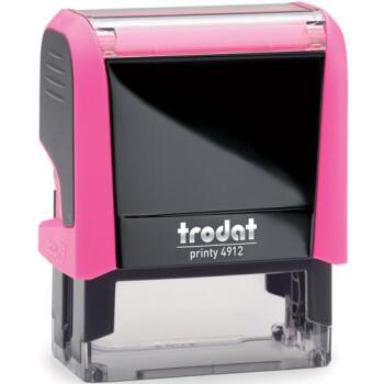 Σφραγίδα Trodat Printy 4912 Eco Αυτομελανώμενη Neon Ροζ για κατασκευή σφραγίδας έως 5 γραμμών κειμένου.