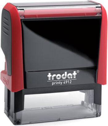 Σφραγίδα Trodat Printy 4912 Eco Αυτομελανώμενη Κόκκινη για κατασκευή σφραγίδας έως 5 γραμμών κειμένου.