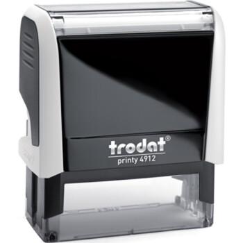 Σφραγίδα Trodat Printy 4912 Eco Αυτομελανώμενη Λευκή για κατασκευή σφραγίδας έως 5 γραμμών κειμένου.