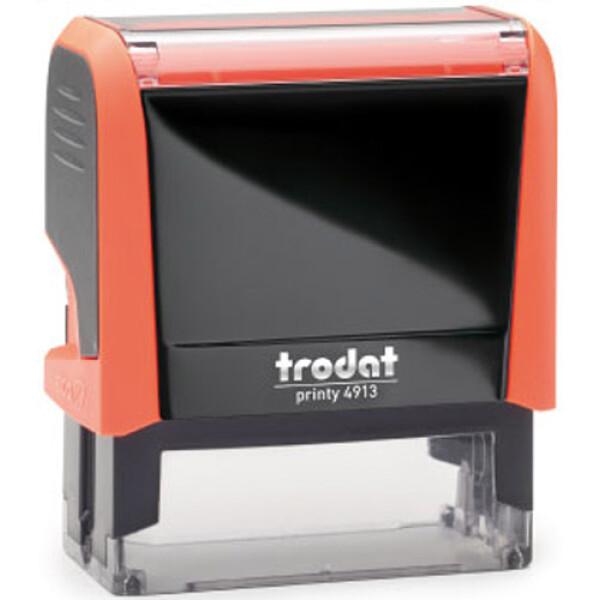 Σφραγίδα Trodat Printy 4913 Eco Αυτομελανώμενη NEON Πορτοκαλί για κατασκευή σφραγίδας έως 6 γραμμών κειμένου.