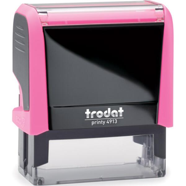 Σφραγίδα Trodat Printy 4913 Eco Αυτομελανώμενη NEON Φούξια για κατασκευή σφραγίδας έως 6 γραμμών κειμένου.