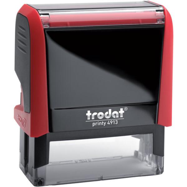Σφραγίδα Trodat Printy 4913 Eco Αυτομελανώμενη Κόκκινη για κατασκευή σφραγίδας έως 6 γραμμών κειμένου.