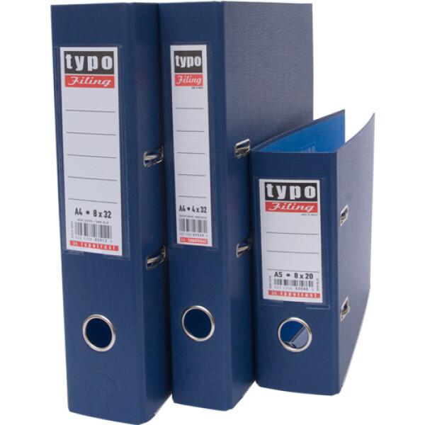 Κλασέρ Μπλε σκούρο, Πλαστικό με μηχανισμό 2 Κρίκων, ύψους 32cm και πάχος ράχης 8cm